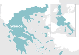 thumbnail map Greece and Western Europe